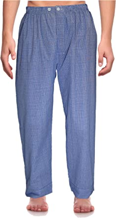 RK clásica Pijamas Hombre broadcloth Woven Pantalón de pijama,