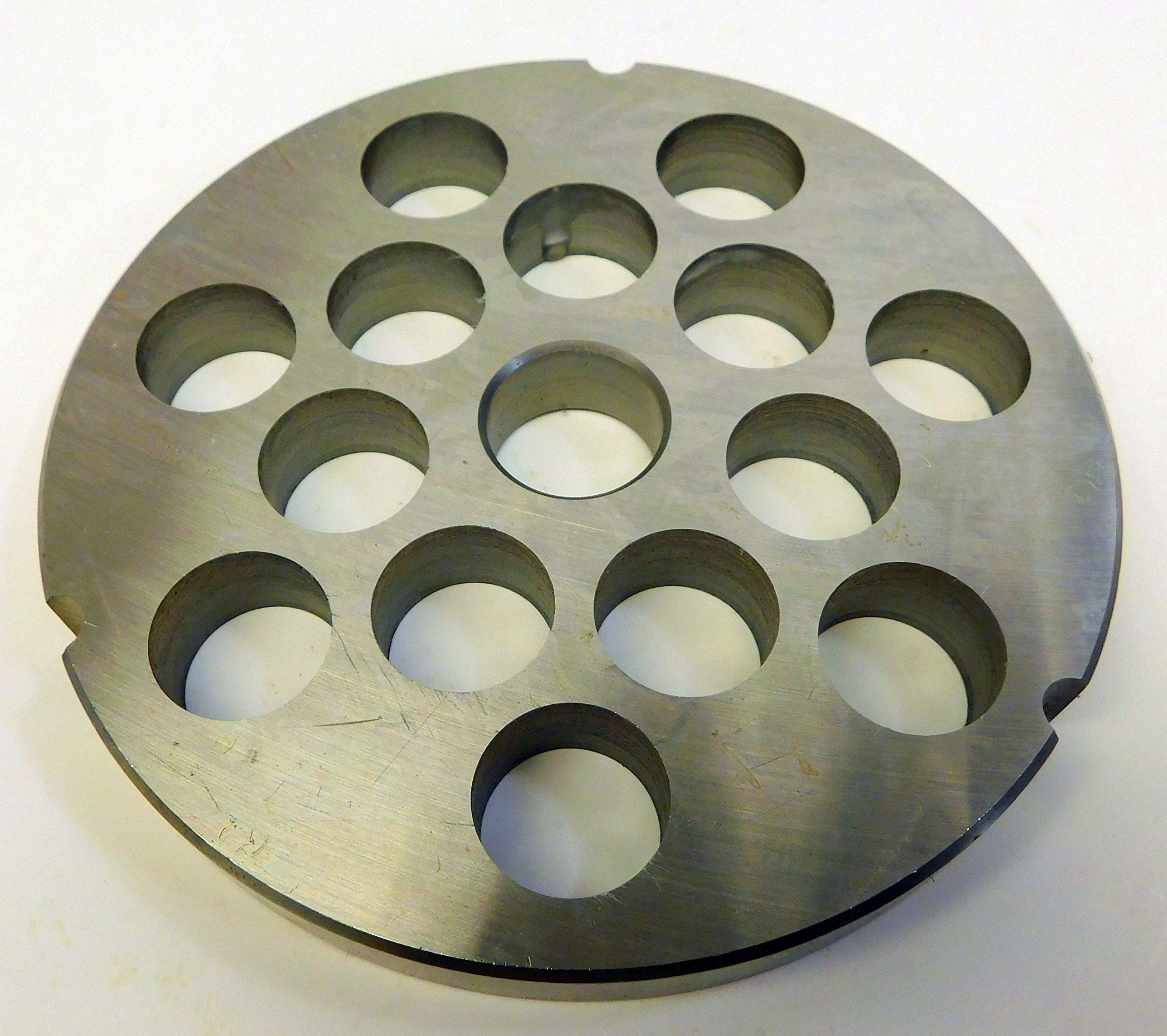 Smokehouse Chef Size #42 x 3/4'' coarse grind holes. Stainless Steel for Cabelas, Hobart, LEM, Weston and others