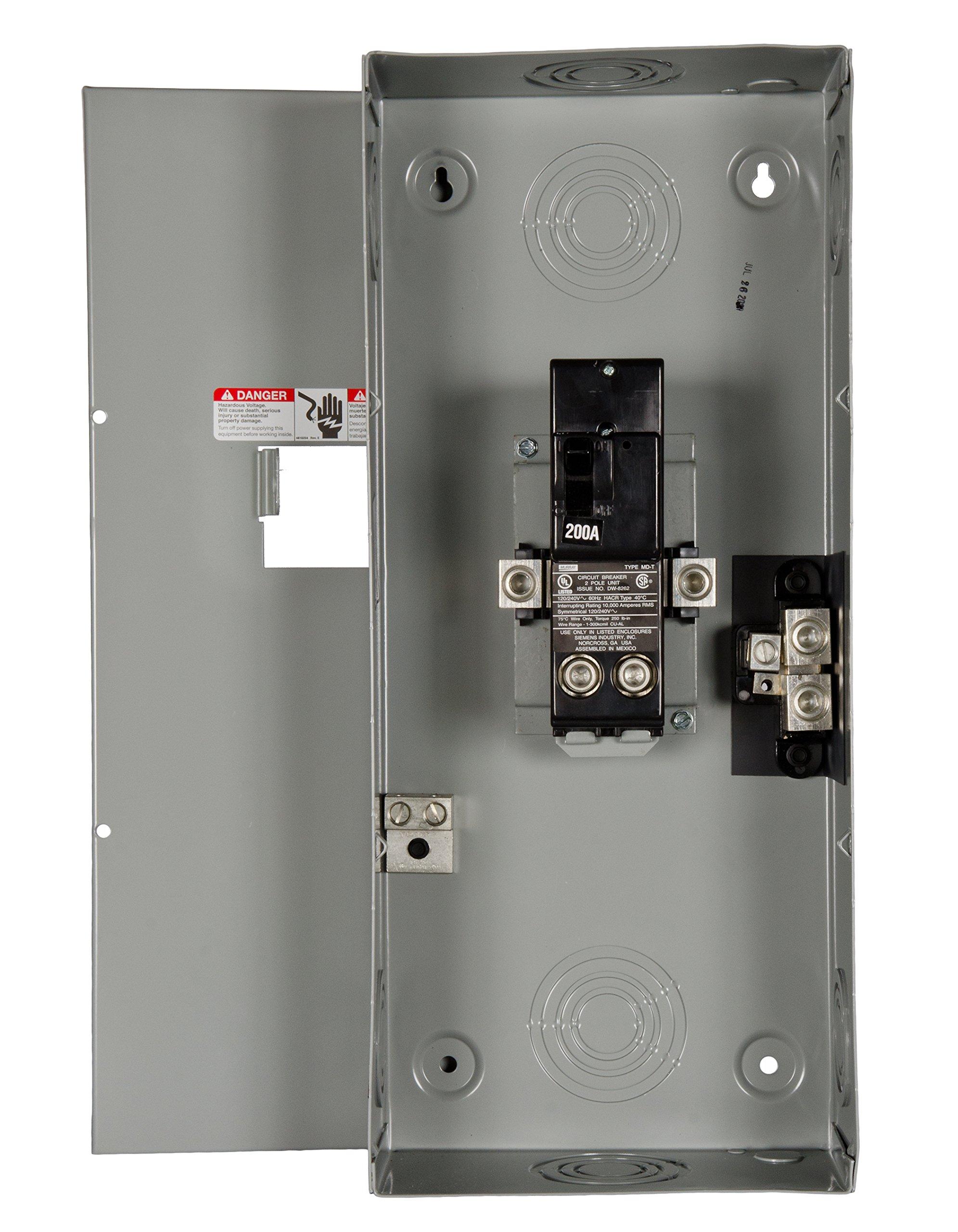 Murray LC200VS 2-Space 4-Circuit 200 Amp Main Breaker Circuit Breaker Enclosure