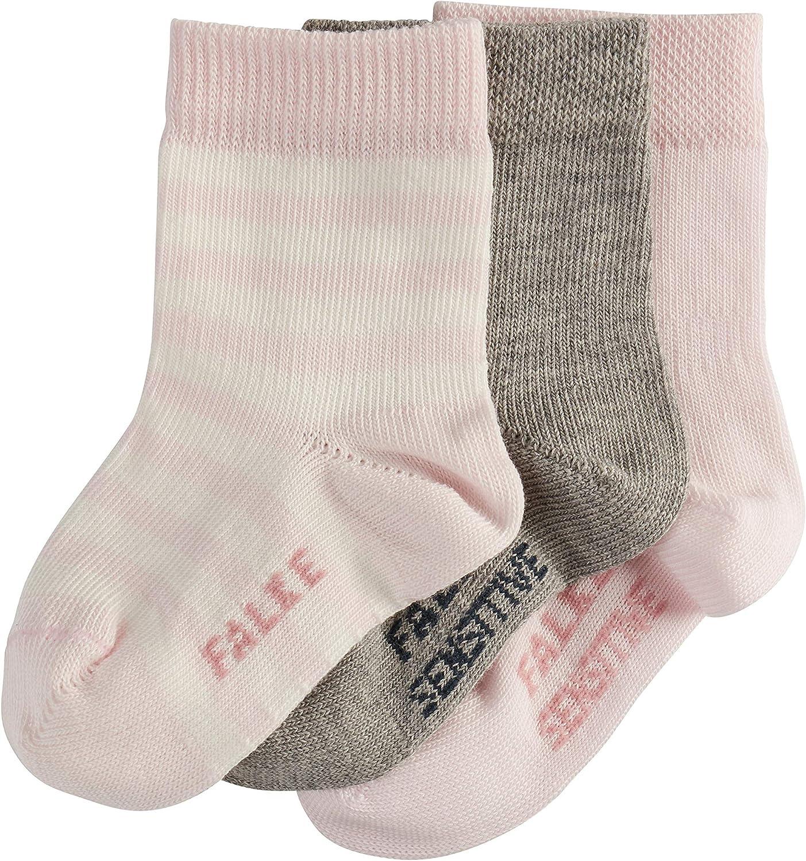 FALKE Baby Socken 3er Set Baby pflegeleichte Babys/öckchen Hautfreundliche 3 Paar Gr/ö/ße 62-92 Farbe: Rosa//Grau 94/% Baumwolle Verf