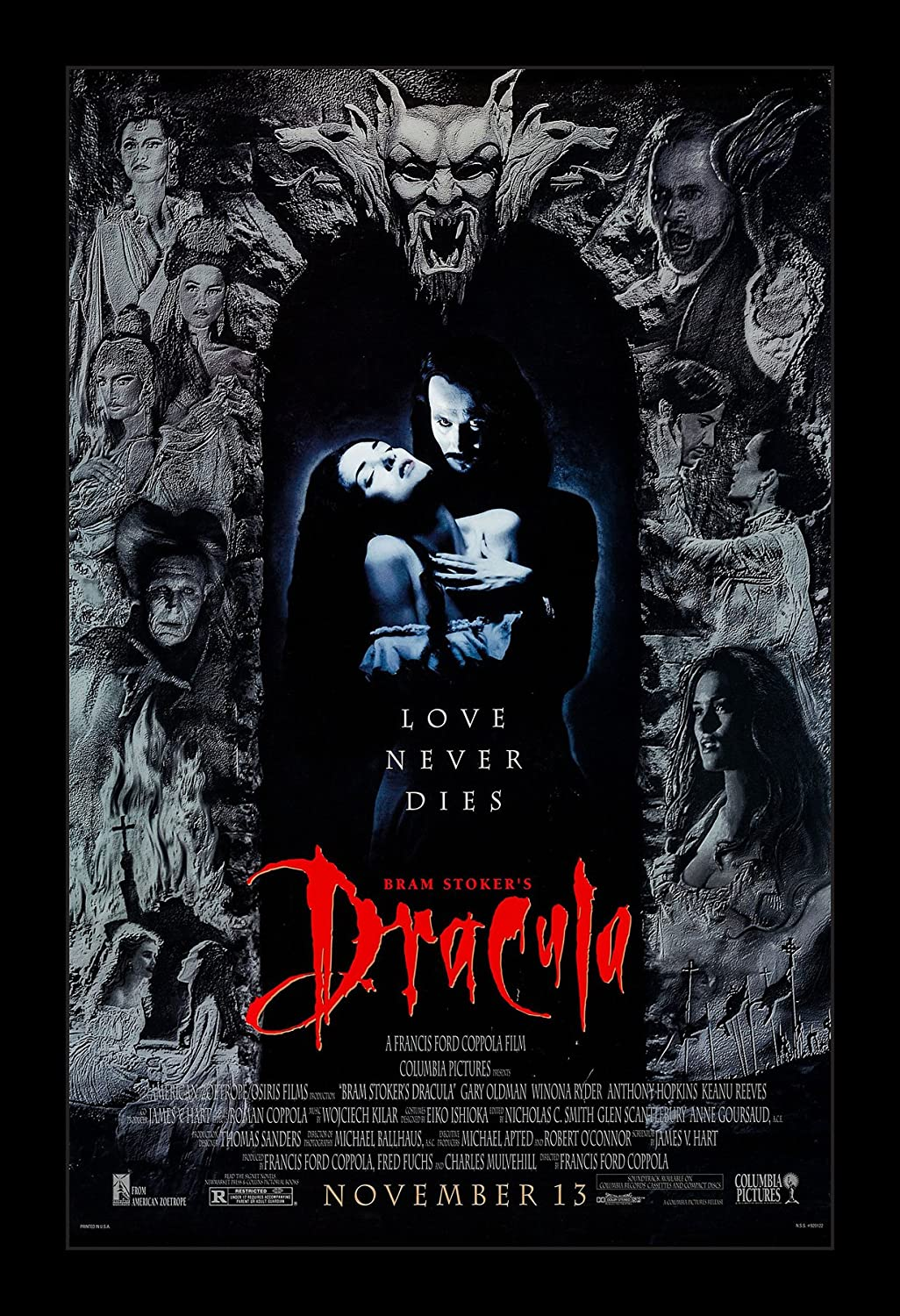 Amazon.com: Wallspace Bram Stoker's Dracula - 11x17 Framed Movie Poster:  Posters & Prints