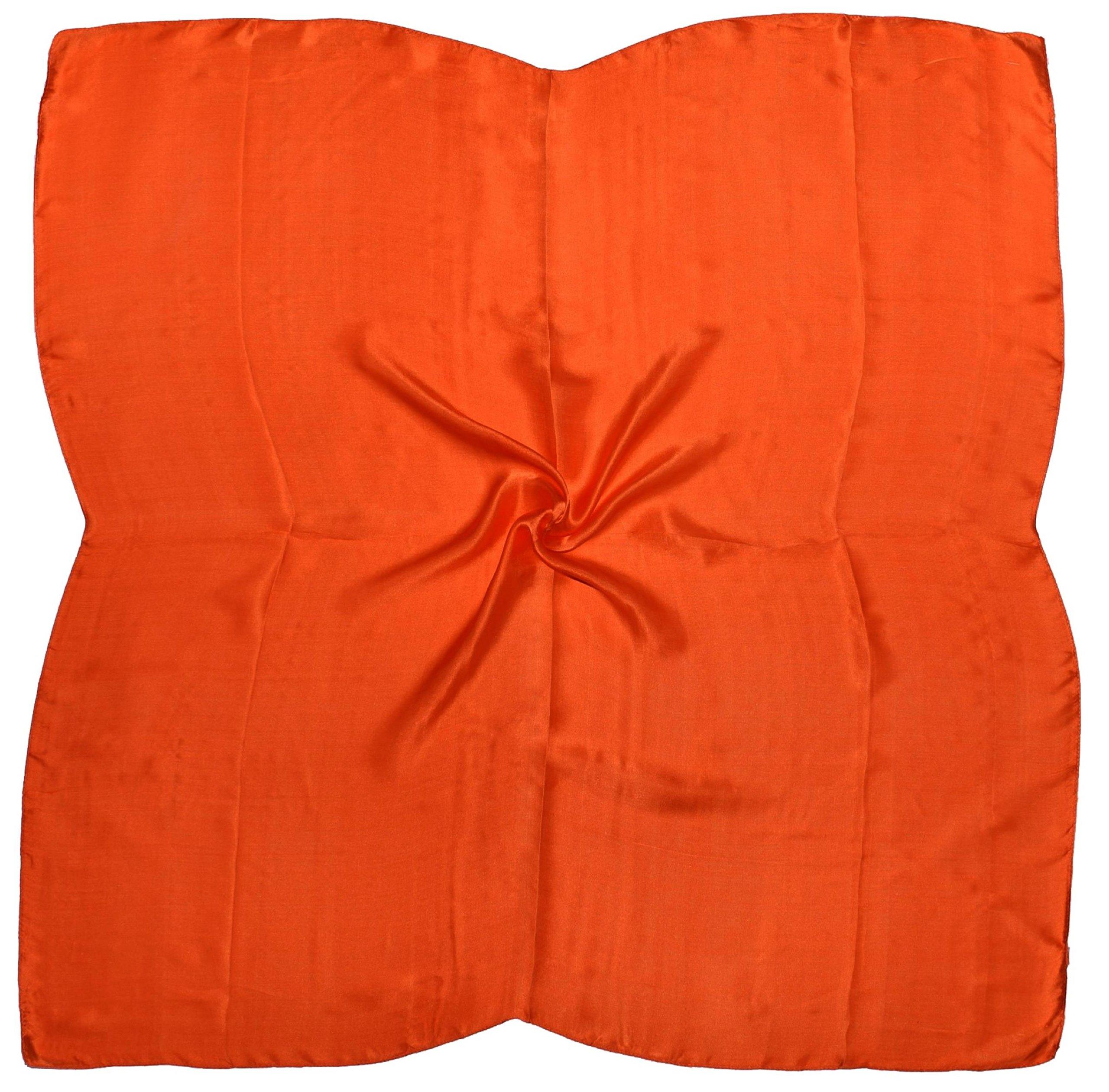Orange Fine Silk Square Scarf