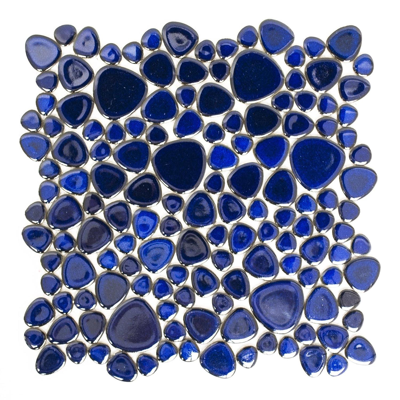Carrelage pour carrelage mosaï que Classic Galets Bleu cobalt Uni Brillant 5 mm neuf # 192 123mosaikfliesen