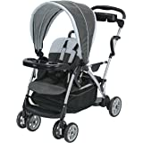 Graco Roomfor2 Stand and Ride Stroller | Lightweight Double Stroller with Toddler Standing Platform, Gotham