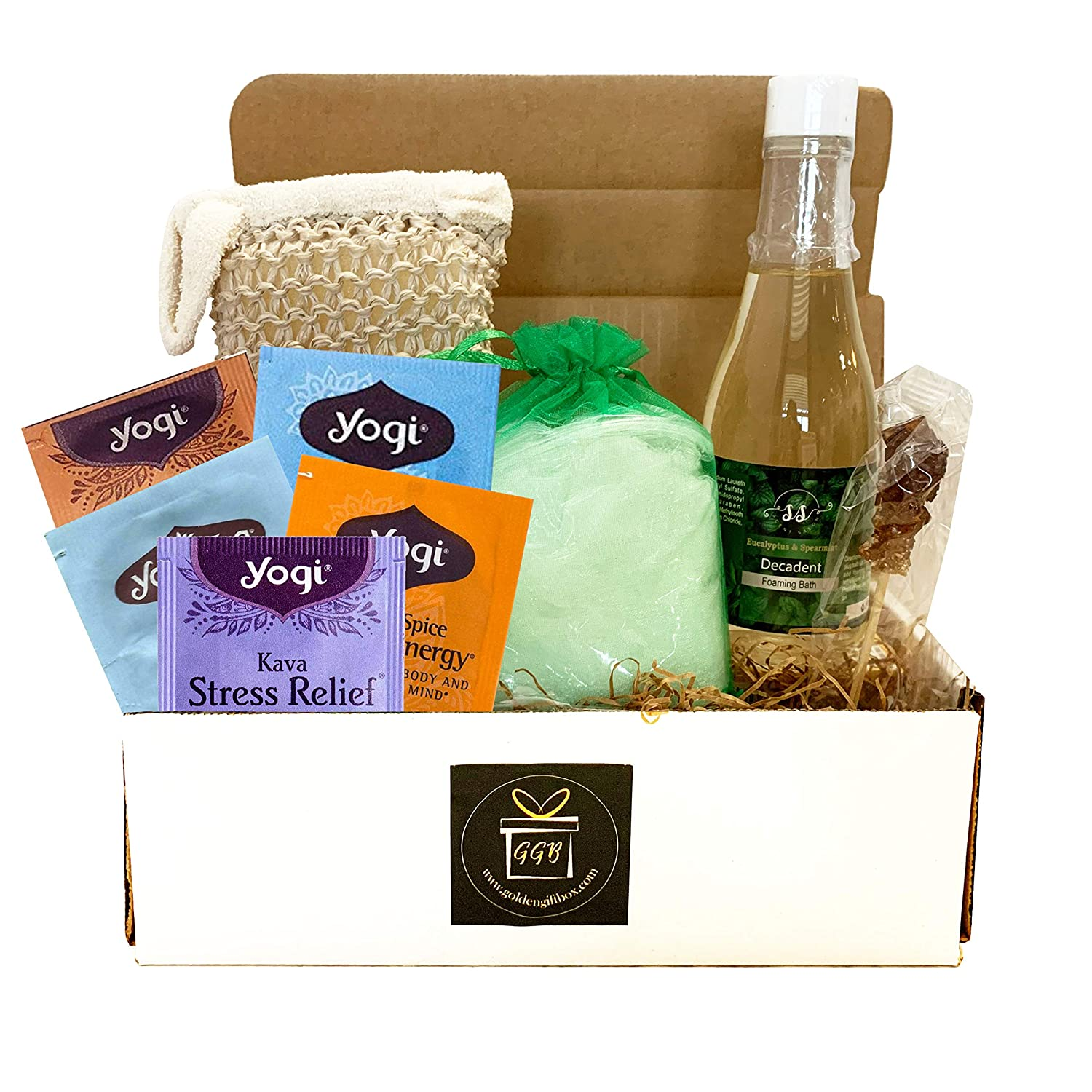 Home Spa Gift Basket For Women - Luxury Deluxe Bath & Body Gift Basket Classic Edition Large Spa Basket - Spa Gift Basket For Women - Aromatherapy Eucalyptus Spearmint Spa Kit! (9 pieces)