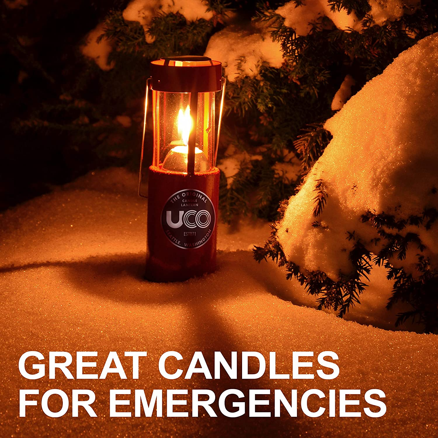 3-Pack UCO Candle Lantern 3.5-Inch Candles 9-Hour Citronella