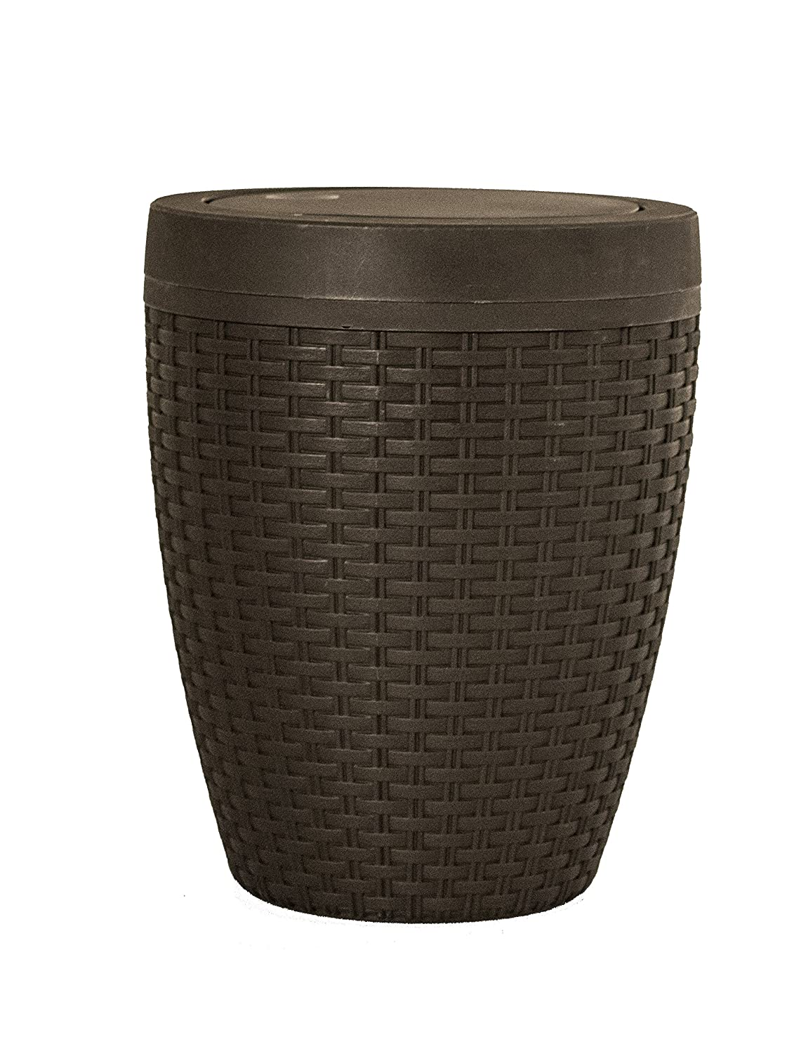 1.63-Gal Round Trash Can Color: Beige Superior Performance 456