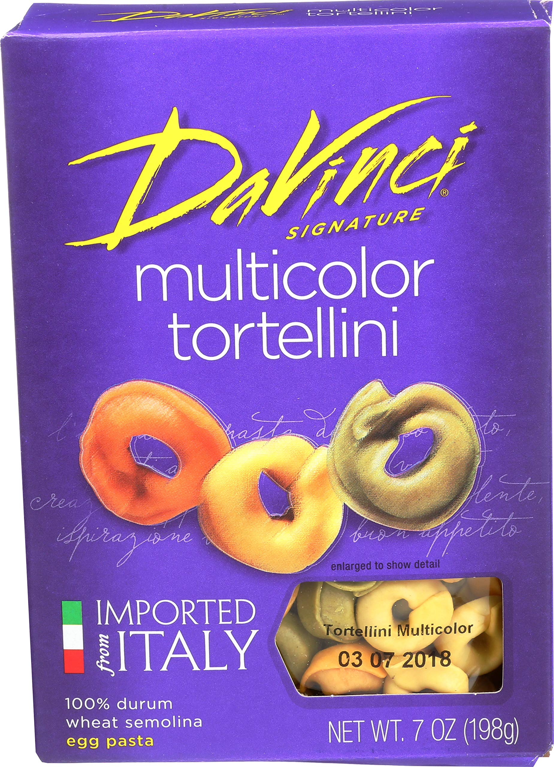 DaVinci Multicolor Tortellini, 7-Ounce Boxes (Pack of 12) by DaVinci