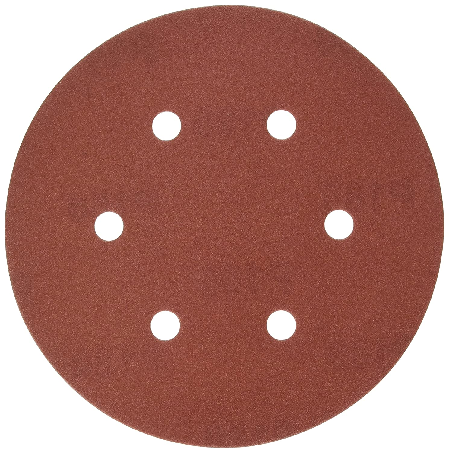 PORTER CABLE 736601825 6' Hook and Loop Aluminum Oxide 6 Hole 180G Disc, 25 Pack