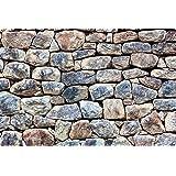 Microthin 24x36-Inch Imagine Work Surface Ultra-Thin Non-Slip Desk Pad - Machu Picchu Stone Wall