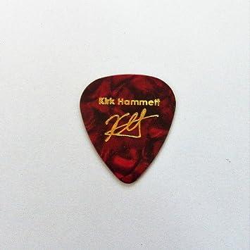 Kirk Hammett impreso con sello Plectrum Púa De Guitarra púas para guitarra leyenda, RED PEARL