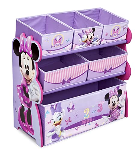 Amazon Com Multi Bin Toy Organizer Disney Minnie Mouse Toys Games