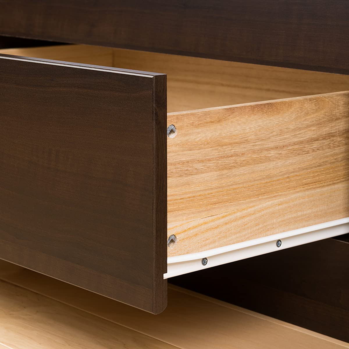 Prepac Espresso Full Mate's Platform Storage Bed with 6 Drawers