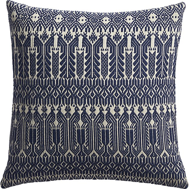 """izel 18"""" pillow with feather-down insert"""