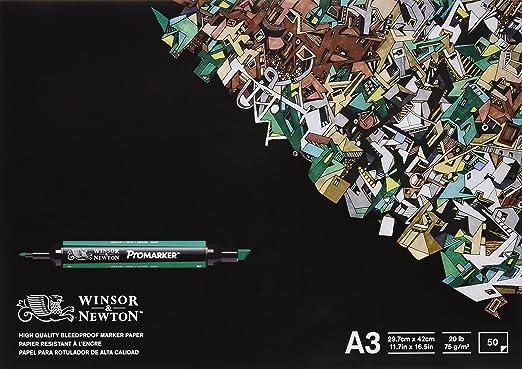 Winsor & Newton - Bloc de 50 hojas de papel para rotuladores, A3