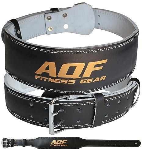 "Fitness Lifting Belt: RDX 4"" Leather Weight Lifting Belt Back Gym Strap Training"