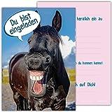 12 Lustige Pferde Einladungskarten Zum Kindergeburtstag Von Edition