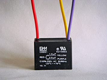 BM - Condensador de ventilador de techo (3 cables, 1,5 uF, 2,5 uf ...