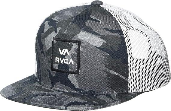 RVCA Men/'s All the Way Trucker Hat Black Camo Snap Back Cap Snapback