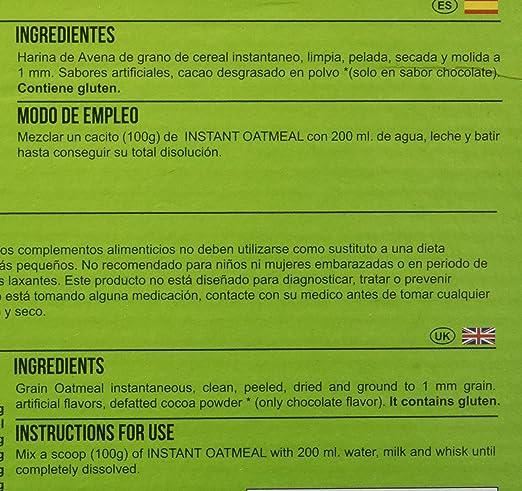 Big Man Nutrition Instant Oatmeal Suplemento de Carbohidratos Chocolate Avellana - 3000 gr: Amazon.es: Salud y cuidado personal