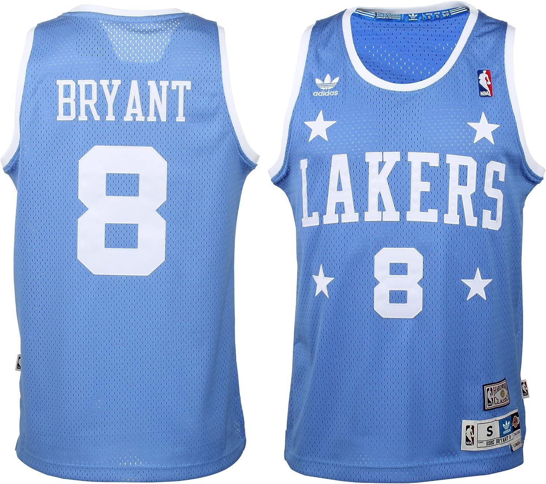 Amazon Com Adidas Kobe Bryant Los Angeles Lakers Youth Hardwood Classics Soul Jersey Large 14 16 Clothing