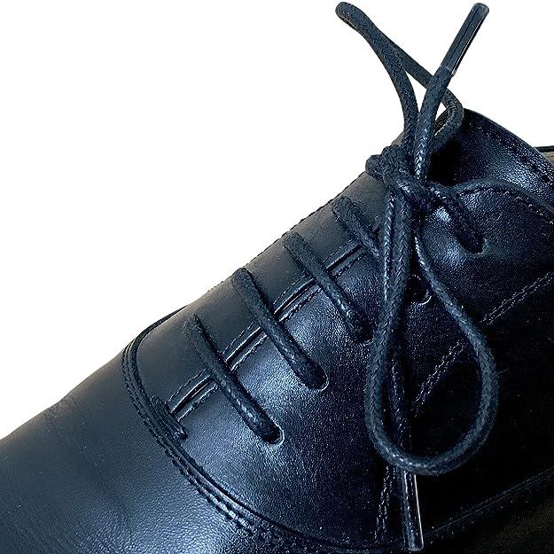 Business Schnürsenkel gewachst reißfest rund - 1 Paar - Ø 3mm - von LEISTEN BEIWERK - für Anzugschuh Lederschuh - Rundsenkel - Schuhbänder - Schuhsenkel - Damen - Herren (100cm, braun)