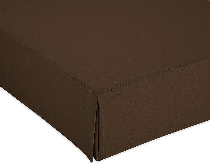Cardenal Textil Liso Cubre Canape, Marron, Cama 180: Amazon ...