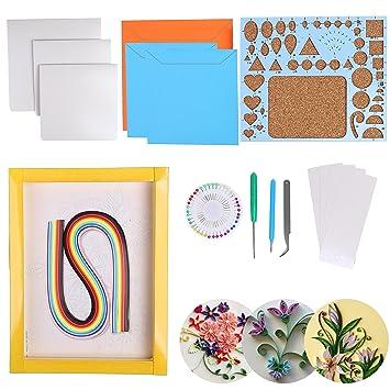 QH-Shop Papier Quilling Set,Quilling Papier Farben mit Handwerk ...