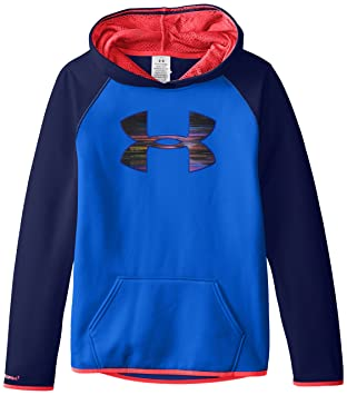 under armour sweatshirts for girls. under armour girls\u0027 fleece big logo hoodie, ultra blue/navy magic, sweatshirts for girls