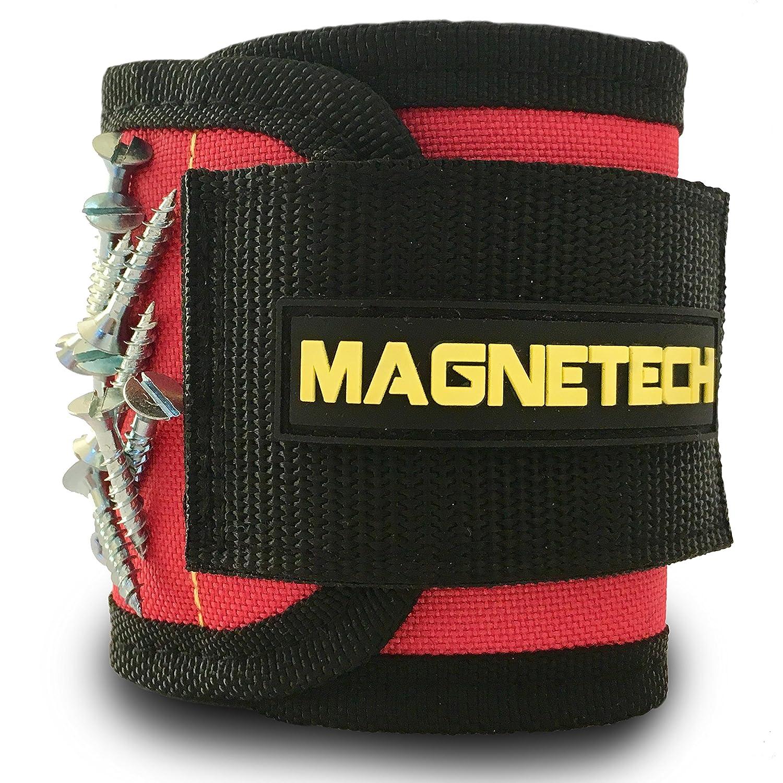 Pulsera magné tica, la mejor y má s fuerte, de Magnetech, 12 potentes imanes para sostener tornillos, tornillos, clavos y herramientas, regalo perfecto de herramienta gadget para proyectos de bricolaje, para carpinteros, electrici