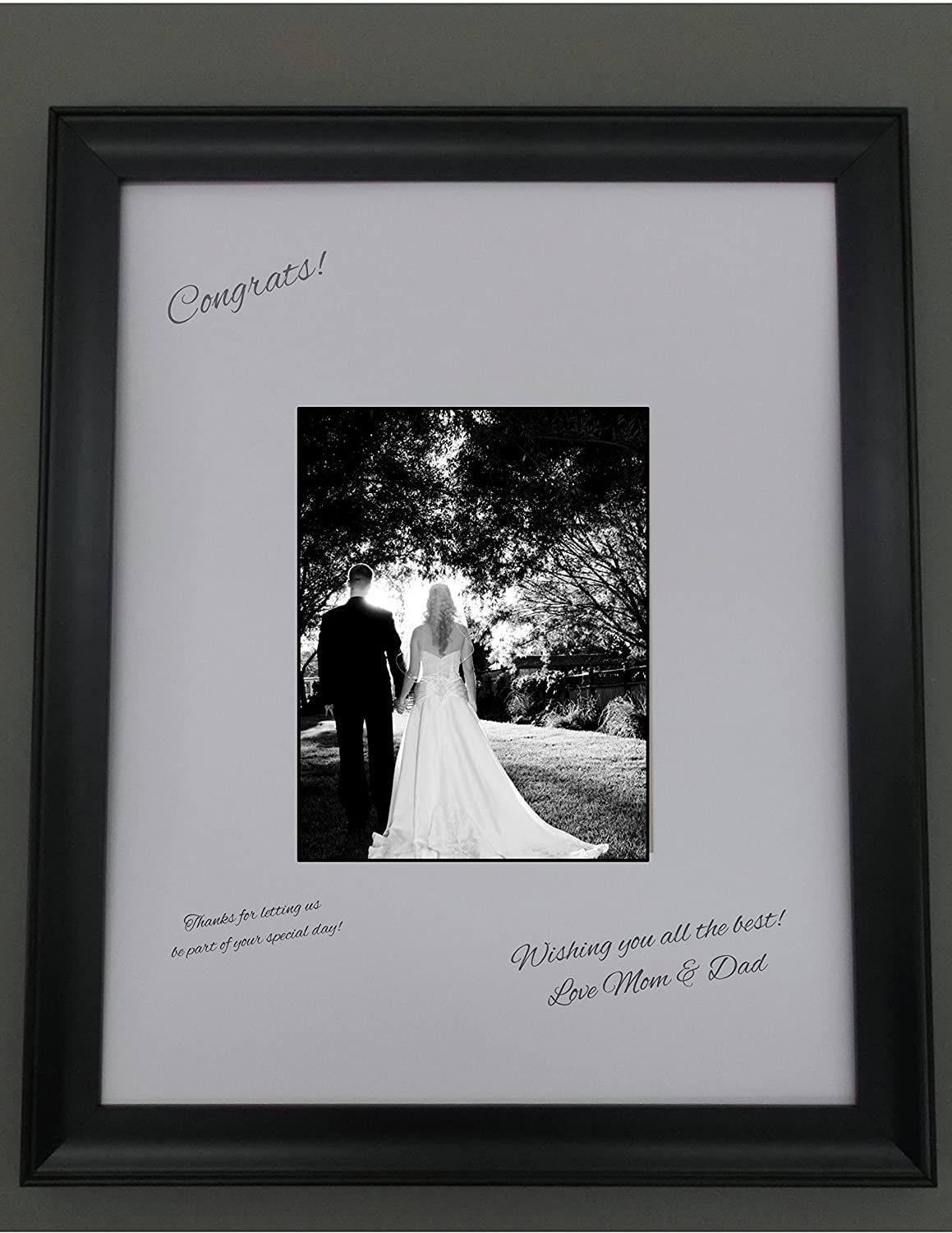 16x20 Black Frame with white signature mat for 8x10 picture, perfect ...