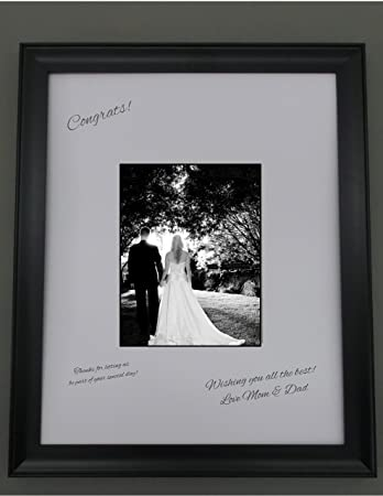 18x24 black frame with white signature mat for 11x14 picture perfect for weddings baby