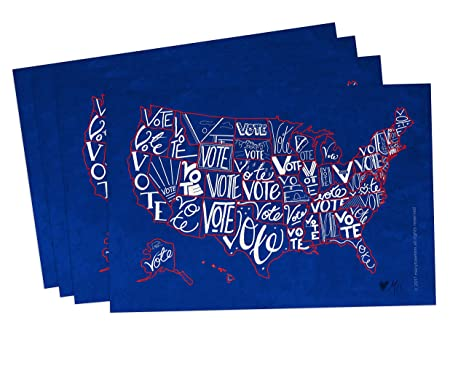 Amazon Com Vote Usa Postcards Pack Of 100 Postcards With A Map