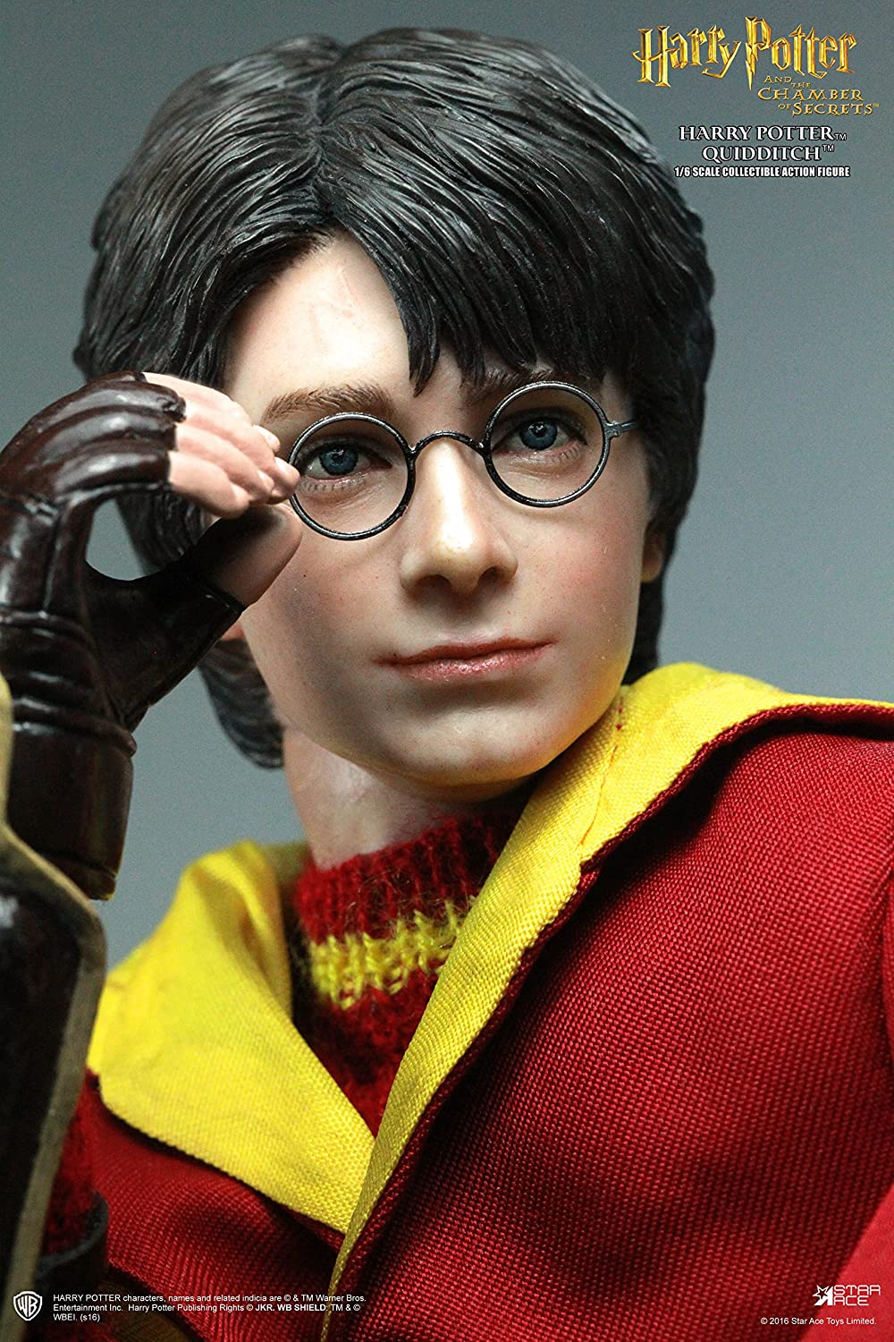 com star ace toys harry potter the chamber of secrets com star ace toys harry potter the chamber of secrets harry potter quidditch version action figure 1 6 scale toys games