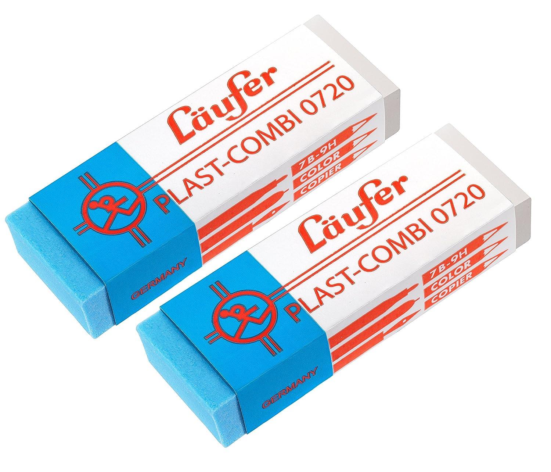 PASSATOIA 69849PLAST COMBI 0720gomma da cancellare, per matite, Pastelli e per inchiostri e tuschen, in blister contiene 2Gomme Gutenberg