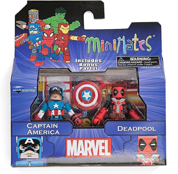 Diamond Select Toys Marvel Minimates Series 2 Captain America & Deadpool 2- Pack Figura De Acción Set: Amazon.es: Juguetes y juegos