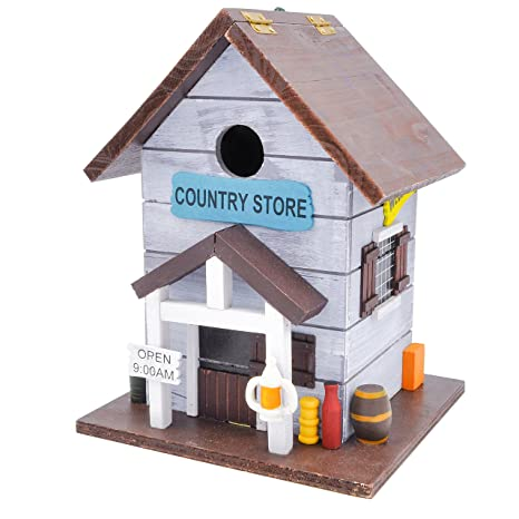 amazon com gardirect country store wooden bird house bright rh amazon com birdhouse store kirkland wa birdhouse story