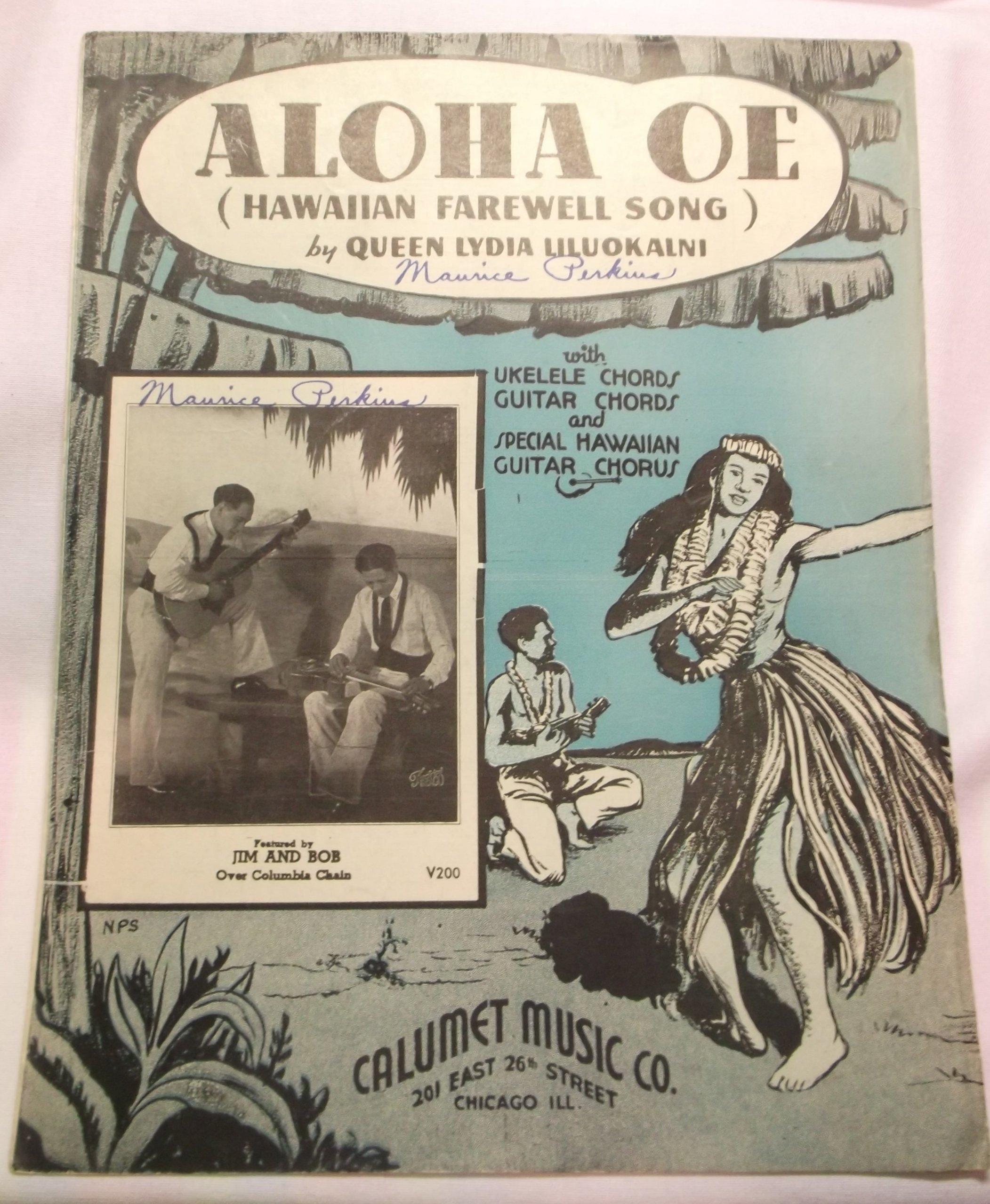 Amazon Aloha Oe Hawaiian Farewell Song Ukeguitar Chords