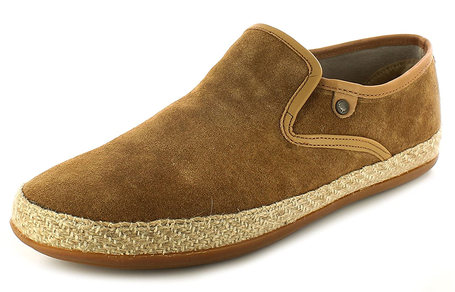 b0514c1b1 Base London SOUND Mens Suede Leather Espadrille Loafers Tan: Amazon.co.uk:  Shoes & Bags