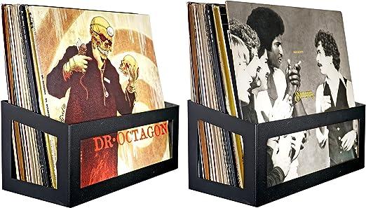 White Pearl One Pack Hudson Hi-Fi Wall Mount Vinyl Record Storage 25-Album Display Holder
