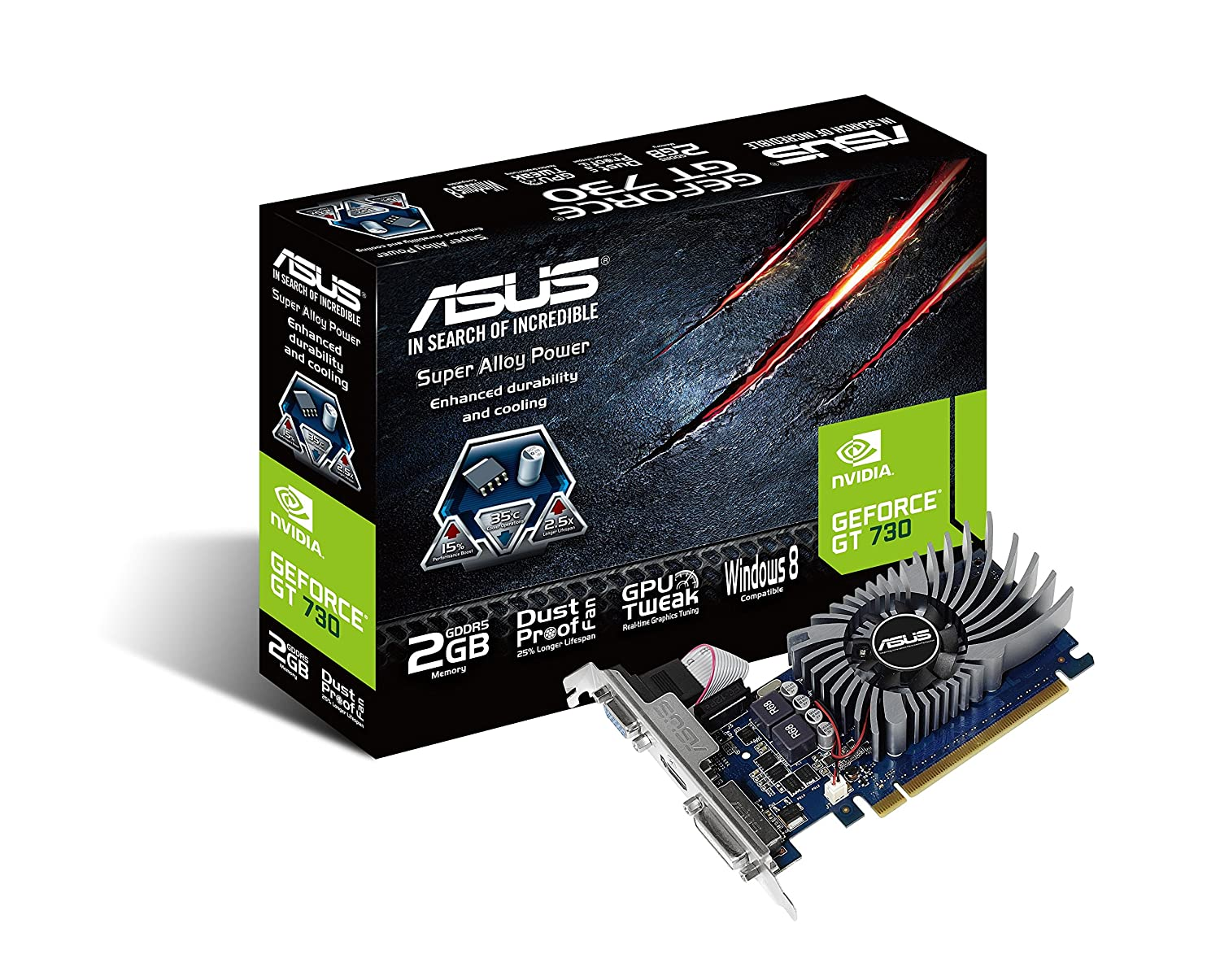 Asus GT730-2GD5-BRK GeForce GT 730 2GB GDDR5 Graphics Card