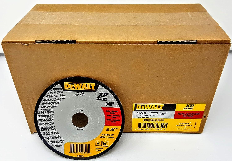 25 Dewalt DW8052 5 x .040 x 7//8 Type 1 Metal Stainless Cutting Wheels