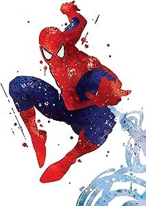 PGbureau Amazing spiderman poster - Inspired coloring watercolor illustration print art 8x10 P04