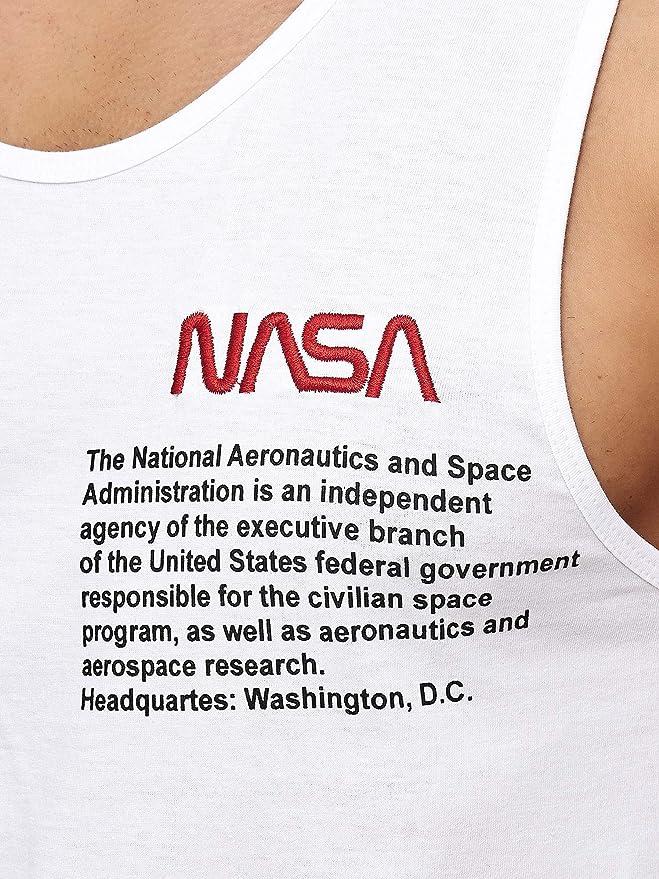 Redbridge Homme Tank Top T-shirt NASA LOGO USA Débardeur Sans Manche T-shirts de Muscle Shirt Gym