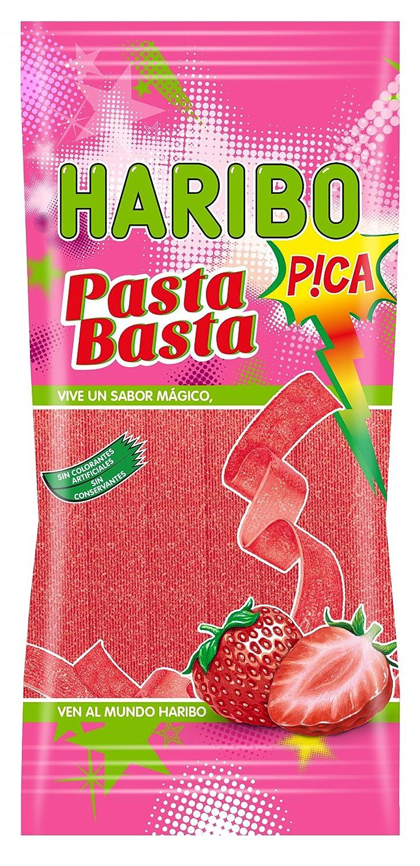 Haribo Pasta Basta Fresa Pica Gominolas - 12 Bolsas - Pack ...