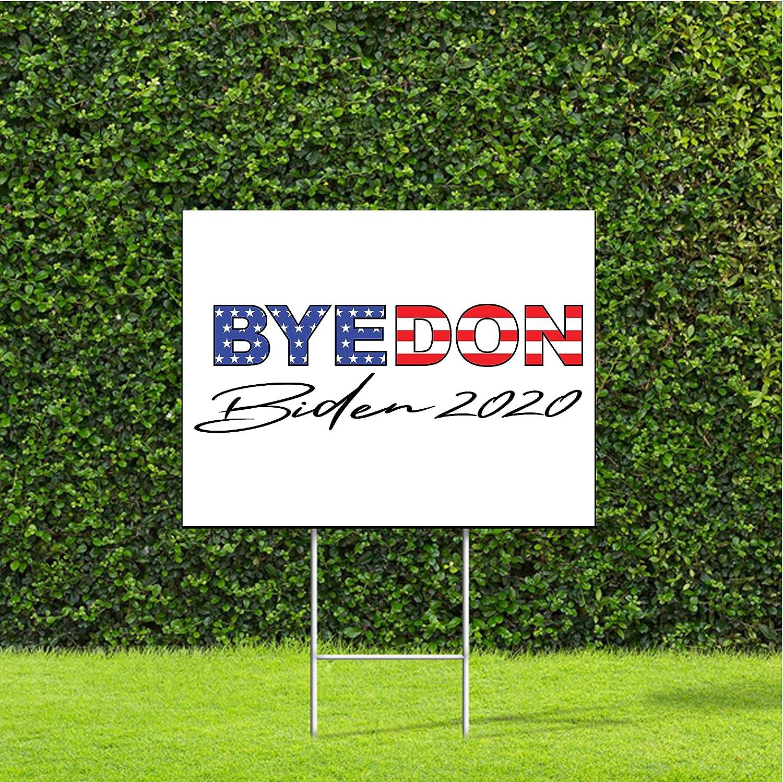 Amazon Com Designthatsign Byedon 2020 Sign Joe Biden For President And Goodbye Donald Trump Yard Sign With Metal H Stake Garden Outdoor