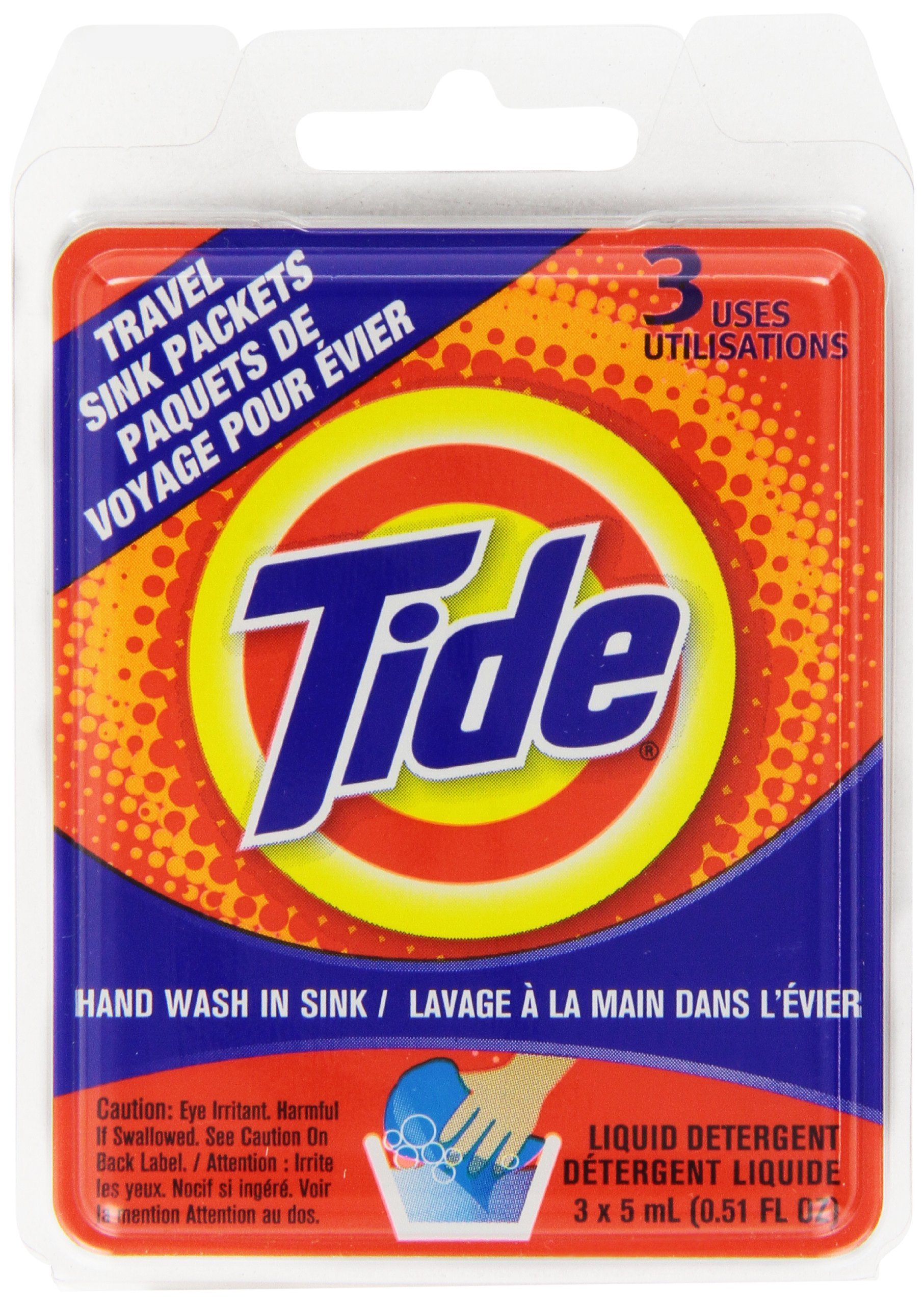 Tide Sink Pack Liquid Laundry Detergent, 0.51oz (Pack of 12)
