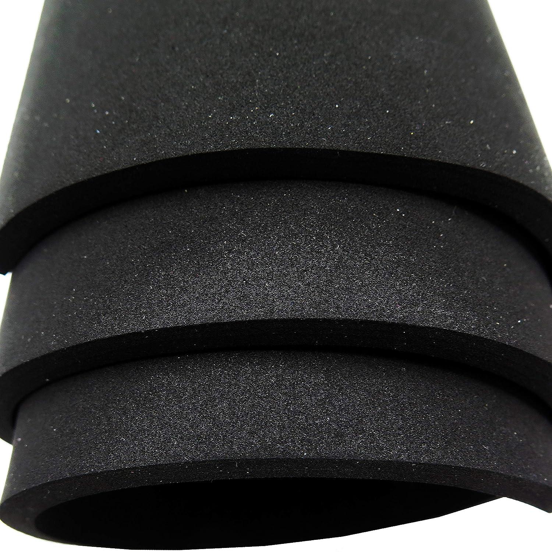 Neopreno esponja de goma espuma hoja rollo - 15 en ancho x 60 en largo, 1/4in. De grosor para DIY proyectos - duradero, fácil de cortar, antideslizante y ...