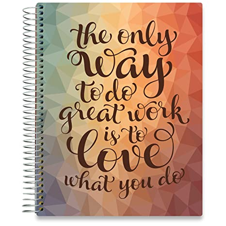 Tools4Wisdom Planner 2019-2020 Academic Year - 8.5 x 11 Hardcover - Love W You Do Cover