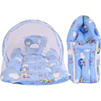 Babloo New Born Baby Mattress with Mosquito Net & Sleeping Bag Combo 0 6 Months